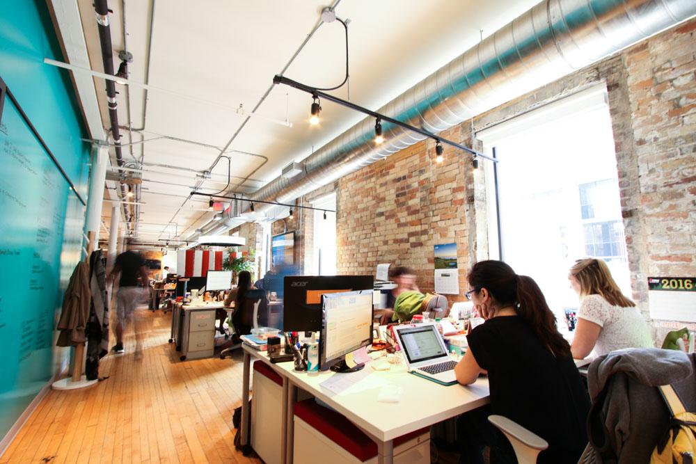 Một phòng làm việc của wattpad tại Toronto