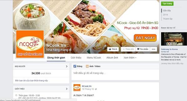 Trang bán hàng online trên Facebook