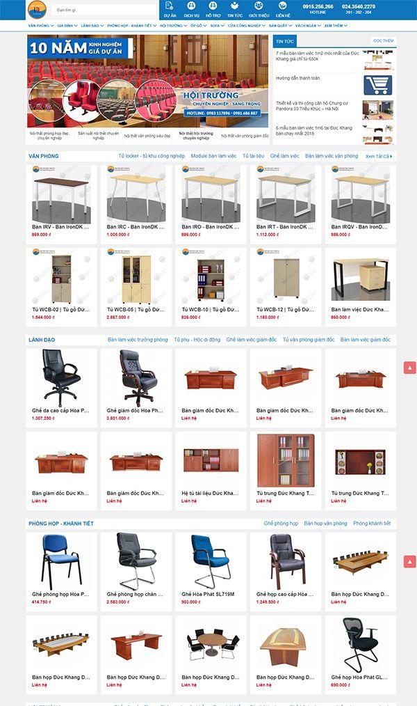 Một giao diện website bán hàng nội thất online được tối ưu tốt