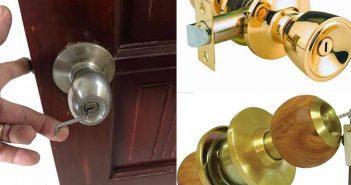Cách tháo ổ khóa tay nắm tròn khi sửa chữa khóa bị kẹt
