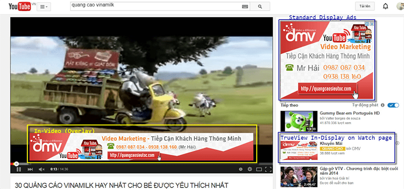 Kiếm tiền qua các quảng cáo trên Youtube
