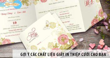 Gợi ý các chất liệu giấy in thiệp cưới cho bạn