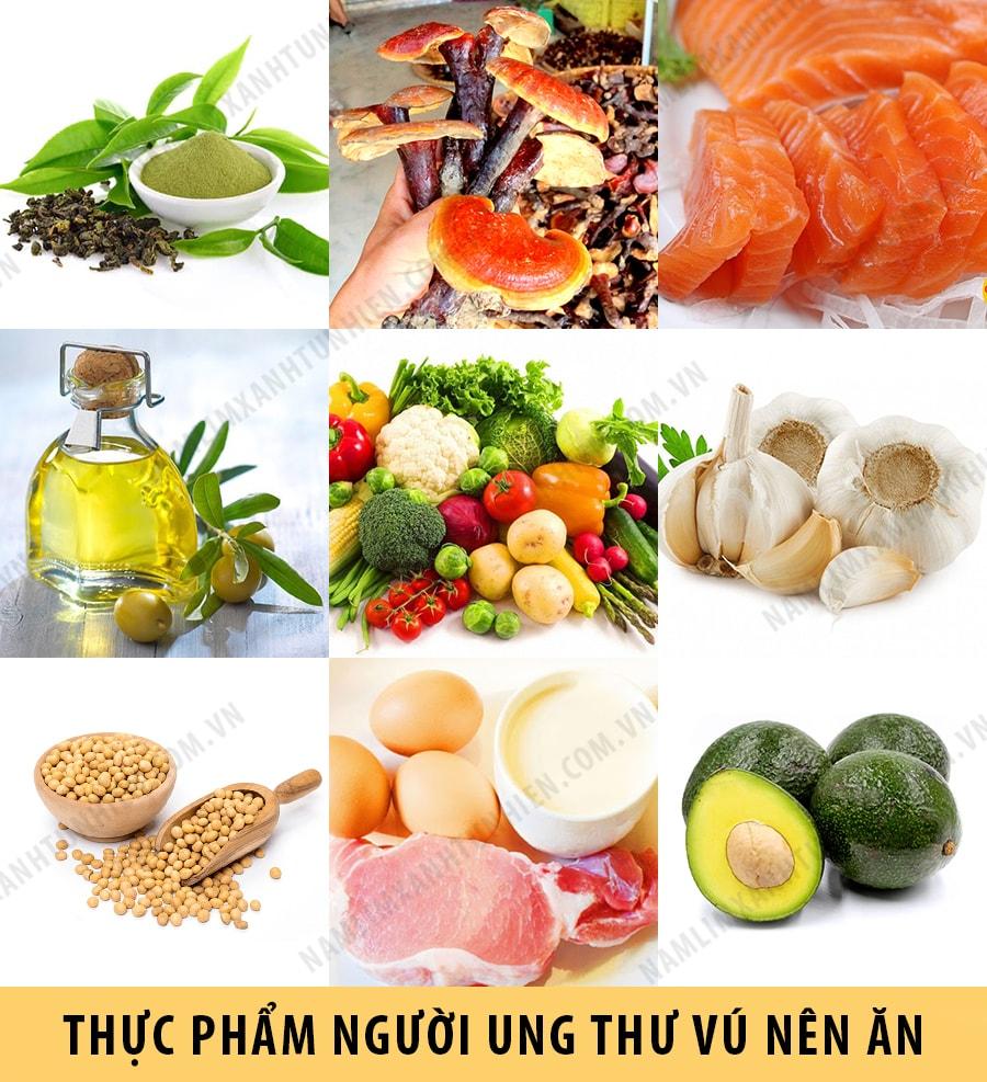 Thực phẩm những người bị ung thư vú nên ăn