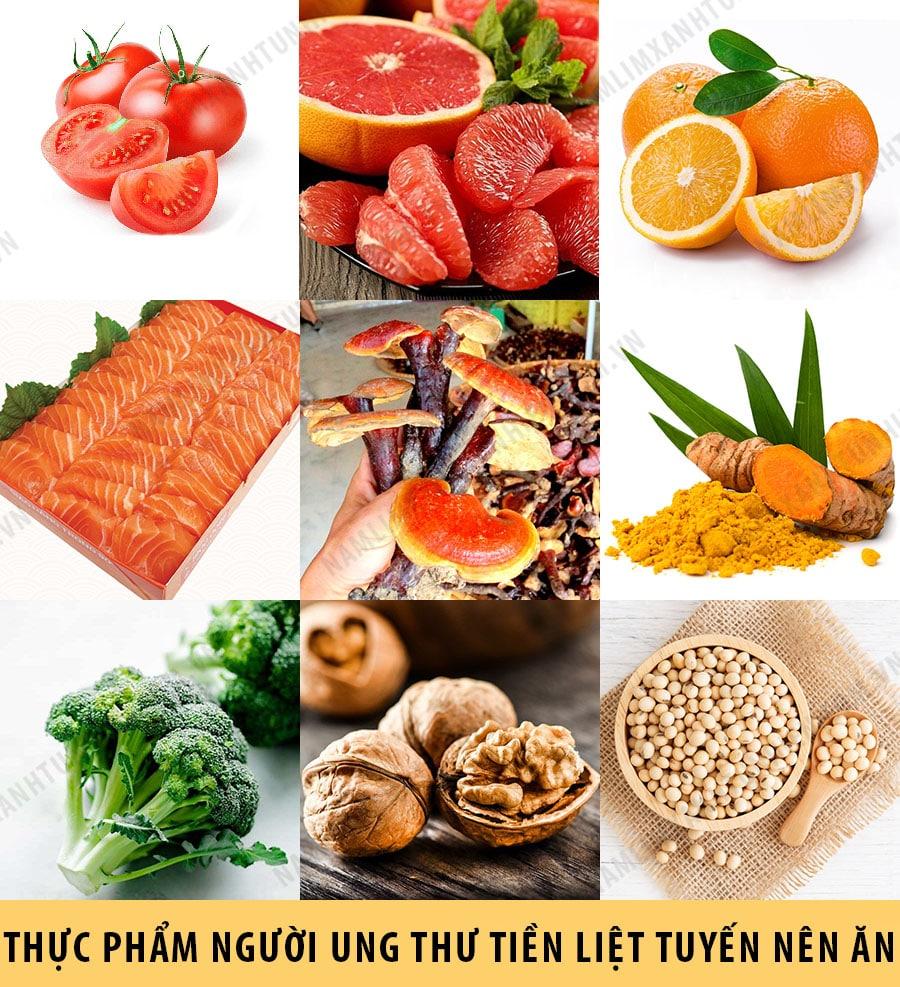 Những thực phẩm mà người ung thư tiền liệt tuyến nên ăn